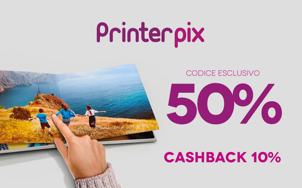 Preleva il nostro esclusivo coupon Printerpix