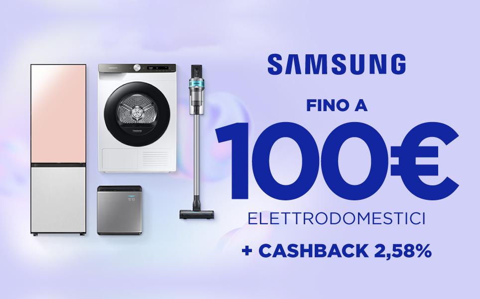 Risparmia fino a 100 euro sugli elettrodomestici Samsung