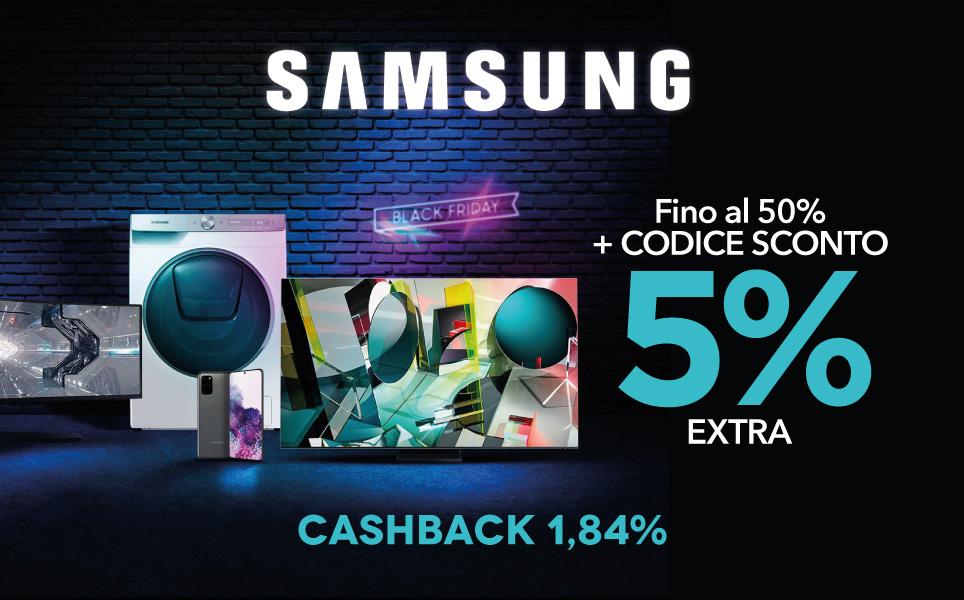 Ecco il tuo codice sconto Samsung di questo Black Friday